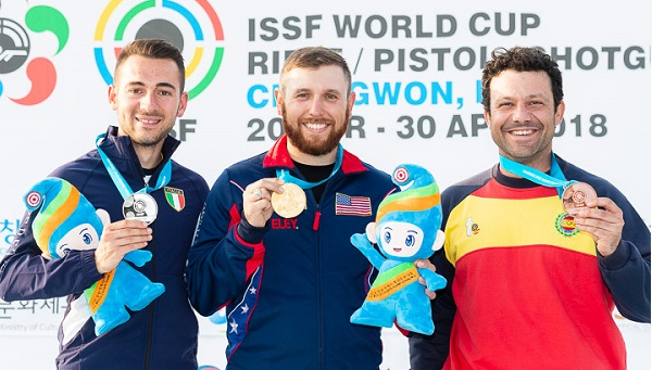 ISSF World Cup Rifle/Pistol/Shotgun 2018 - Changwon, KOR - Final Skeet Men